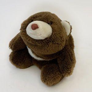 80s Big Round Teddy Bear by Gund